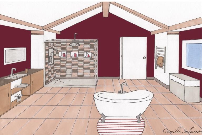 croquis salle de bain